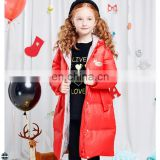 T-GC014 2016 Fresh Fashion Winter Girls Mid-Thigh Length Coat Windproof Down Jacket
