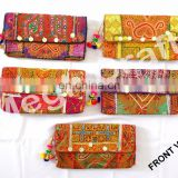 Wholesale Gypsy kutch embroidered Coin clutch- Bohemian Tribal clutch purse -Vintage Tribal Embroidered clutch