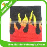 Fire patten embroidered cool head sweat bands