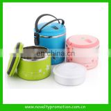 Stainless steel lunch box with compartment