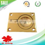 Square polished brass handles flush ring pull