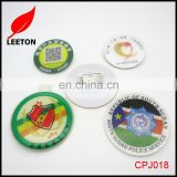 Factory supply Custom round plastic name badge