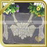 Wholesale handmade sew on bling crystal beaded bridal rhinestone appliques FHA-059                                                                         Quality Choice
