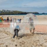 Funny crazy inflatable fighting bumper ball inflatable bubble bumper ball for beach playing