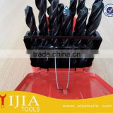Metal Case HSS Tin Coated Drill Bits Set