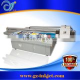 2.5M width Konica UV flatbed printer with 5 pieces konica KM512MH printhead for glass printing