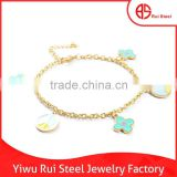 2015 newest design charm jewelry hand chain golden 316L stainless steel cute bracelets for women