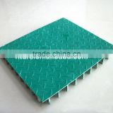 Non-slip top covered frp plastic grating sheet