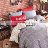 Fashion white color cotton bedsheet set anchor printed 4 pcs queen size kids bedding set