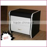 (D208) Modern white and black painted night stands