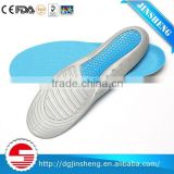 blue and gray PU foam insoles