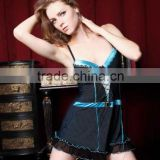 Latest sexy hot high quality cross tied design stripe lingerie 5110 Image