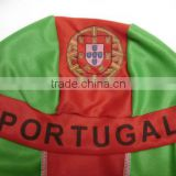 newest portugal flag head tie scarf,souvenir hat Sport fans different country flag head tie scarf, promotional gife cap