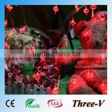 Red chinese pumpkin lanterns LED string light LED Christmas lights wedding outdoor holiday tree decoration light 5M/10M