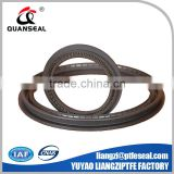 black PTFE Slanted Coil spring energized seals