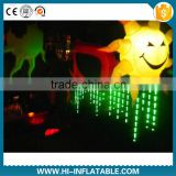 New brand party lights supply inflatable star,sun with led light for night club,stage decoration