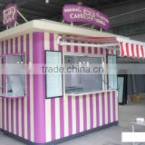 2015 Newly designed bubble tea kiosk design ice cream kiosk for outdoor use frozen yogurt kiosk