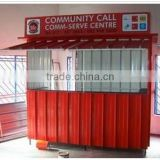 Outdoor durable prefabricated coffee shop in high quality prefabricated shops manufacturer mobile coffee shop