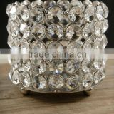 Round shape tea light candle holder,Round crystal tealight votive,Crystal tealight votive