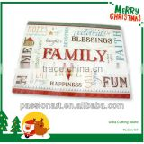 Celebration Kitchen Decorative Christmas Glass Cutting Board