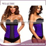 Sexy Underwear 3 Hooks Shapers Plus Size Waist Trainer Latex Steel Boned Waist Training Corsets