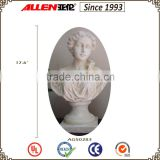 "17.6"" factory direct female bust statue, customized resin lady bust statues"