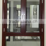 Waterproof & soundproof aluminum casement window for villa & house, with decorative architrave