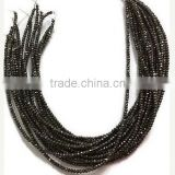 5 Strands Black Spinel Coated Faceted Rondelle Beads 2.5-3mm 13.5 inch Long Beads Strand,Necklace Making Beads