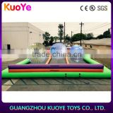 factory price lane zorb track,inflatable zorb ball track, inflatable air tumble track
