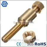 custom made special wheel bolts brass hanger bolt anchor with special nut and hex nut                                                                                                         Supplier's Choice