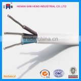 aluminum conductor 3 core electric power cable/flat cable 2 X 2.5mm+1