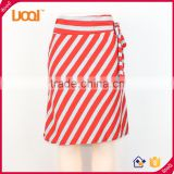 Wholesale hot sale latest printed stripe skirt design pictures sexy school girls short skirts