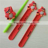 custom print wristband slap ruler snap bracelet ruler wrist band