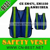 blue mesh safety vest,blue high visibility vest