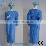 Cheap health care products factory price disposable PP hospital gown with knitted cuff