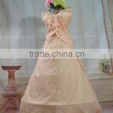 Beautiful party dress custom embroidery fabric combed cotton fabric designer dress