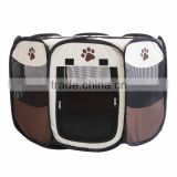 8 Sided Portable Dog Pet Cat Play Pen zipper door Closure Outdoor Soft Cage Kennel Tent Storage Portable New