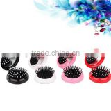 2015 New Design Small Size Hair Brush With Mirror Set