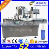 Shanghai supplier PLC controlled automatic spray filling and capping machine,liquid filling line
