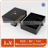 custom text and graphics printing drawer box black satin ribbon to pull the tray                                                                         Quality Choice