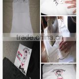 Best AW Quality import material : White Color T-shirt heat transfer paper (inkjet iron-on printing paper) for cotton fabric