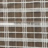 white color 100% polyester big checks design warp Knit net mesh fabric for curtain and garment from China