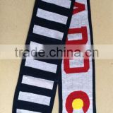 100%Acrylic Jacquard Knitting Letters Colorado Flag Scarf Fan Scarf                                                                         Quality Choice