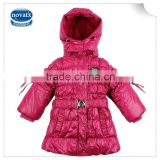 (F4509) 2-6y multi colors nova kids wear children winter hoody coats down child garments warm clothes for girls