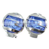 12V 55W Car Universal High Power Blue Halogen Fog Light With ABS Chromed Cover Crystal Glass Lens H3 Bulb For Off-road Vehicl