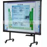 multitouch smart wheeled stand smart board finger touch,quality interactive whiteboard for education