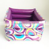 colorful fashion portable square inflatable foot bath tub for travel Pedicure