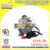 Motorcycle Aluminum carburetor assy for GY6-50