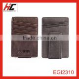 foreign trade model Europe and America card holder multiple cow leather money clip for men alibaba wholesale