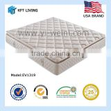 all kinds of resiliency and firmness and measurement offset stainless steel spring bed mattress light color cover